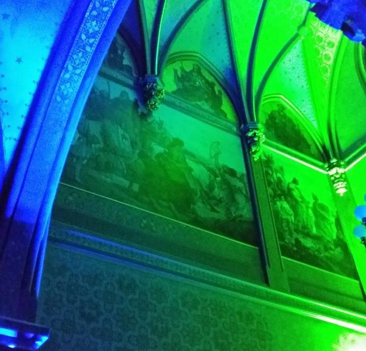 Innenfassade in grün