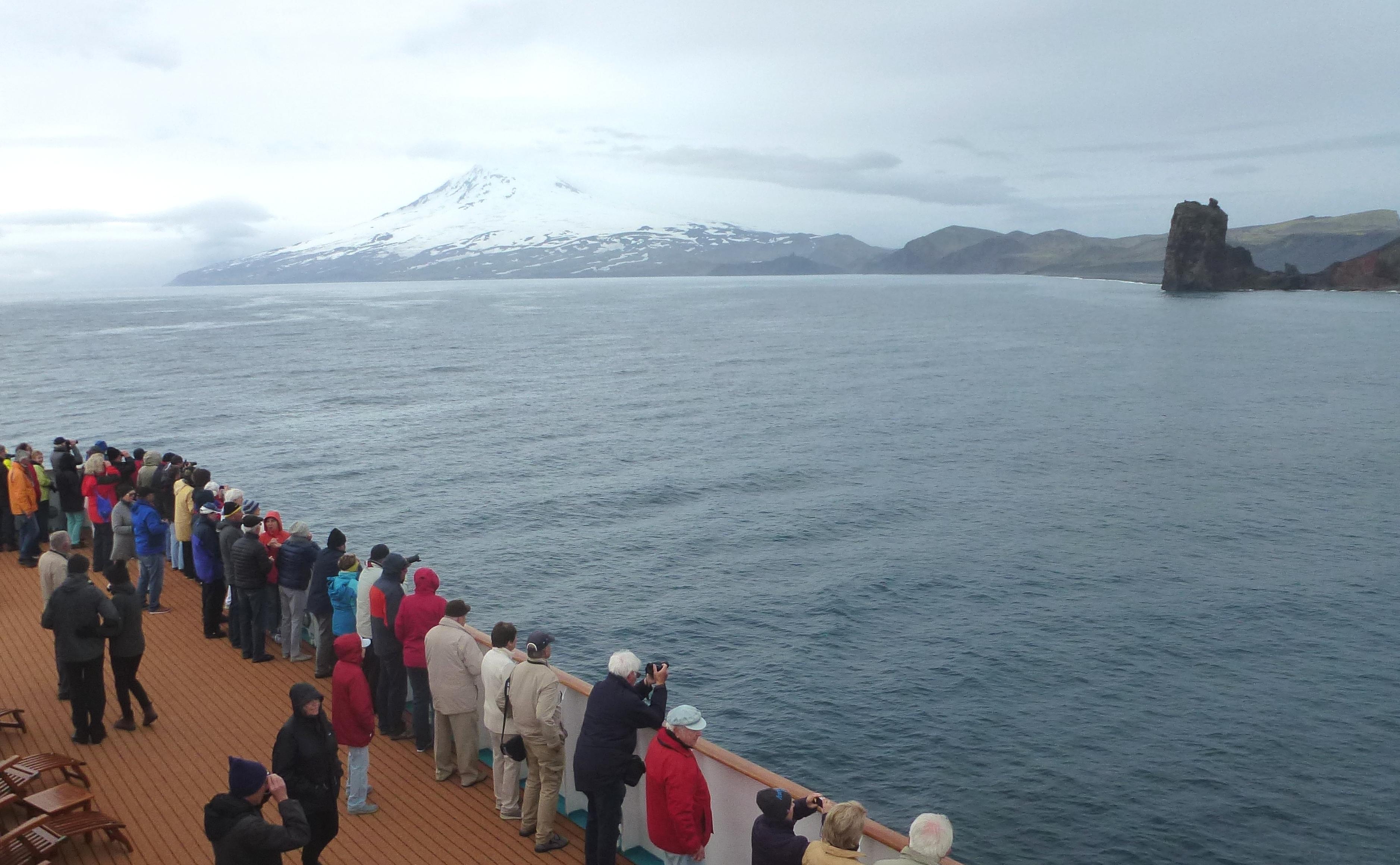 Jan Mayen Insel vom Schiff