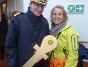 Polarkreisüberquerung mit Kapitän