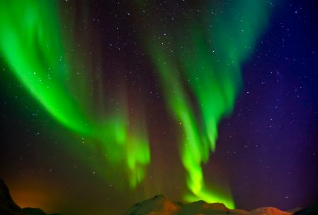 Aurora borealis in Norwegen (Foto: privat)