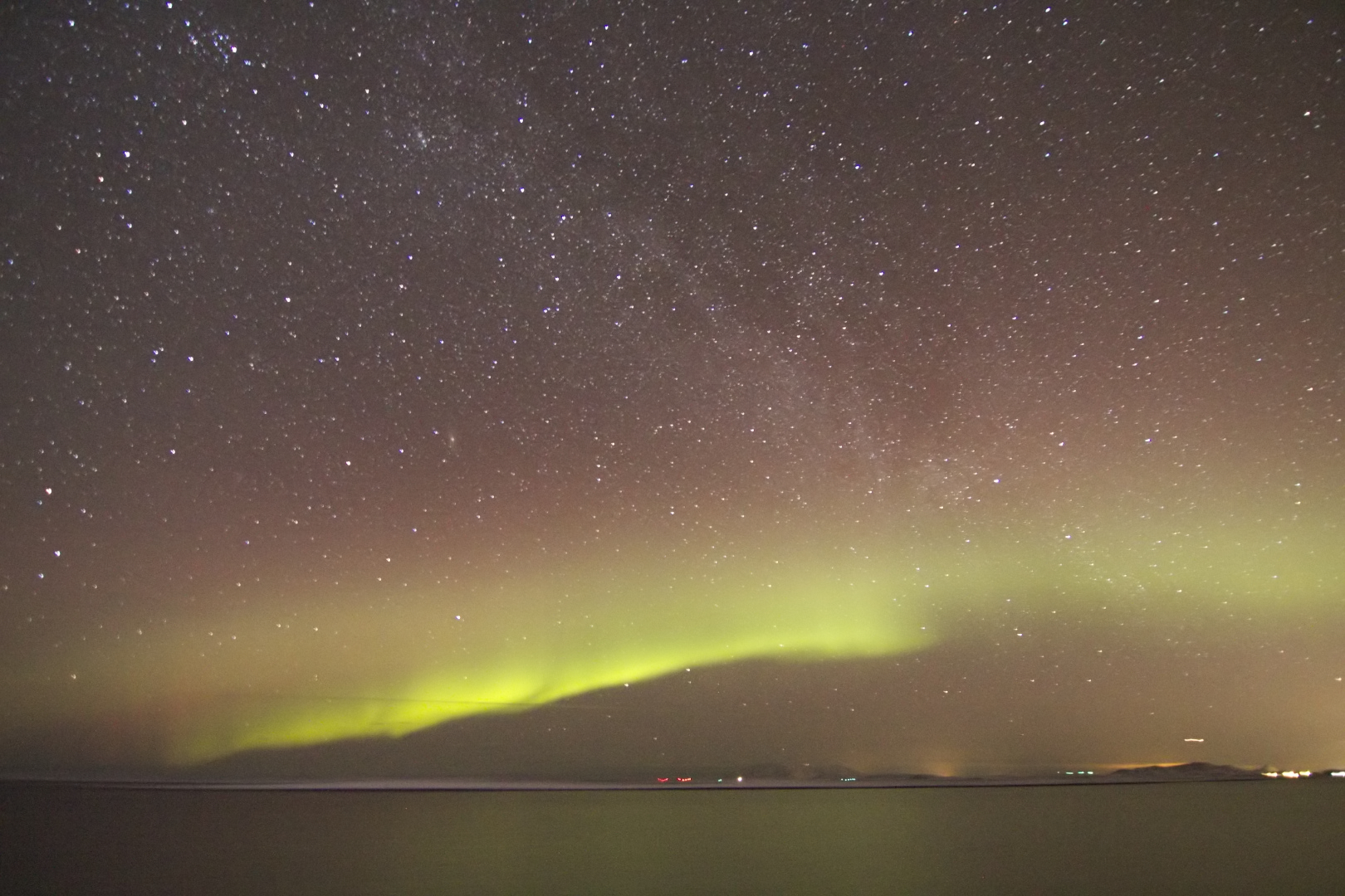 Tanzende Polarlichter am Himmel von Norwegen 2