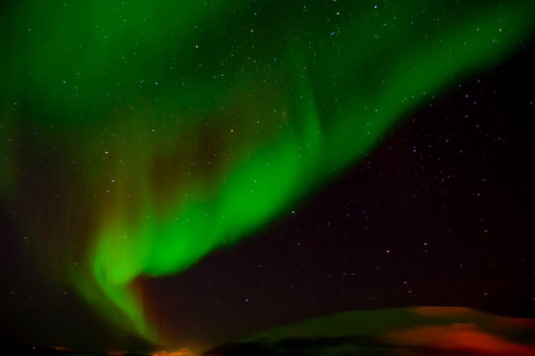 Tanzende Polarlichter am Himmel von Norwegen 9