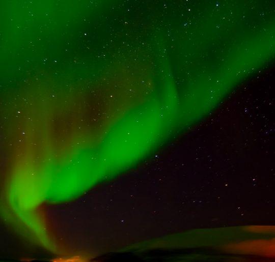 Tanzende Polarlichter am Himmel von Norwegen 1