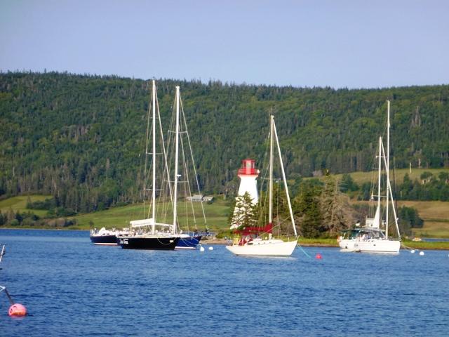 Boote auf dem Bras dOr Lake