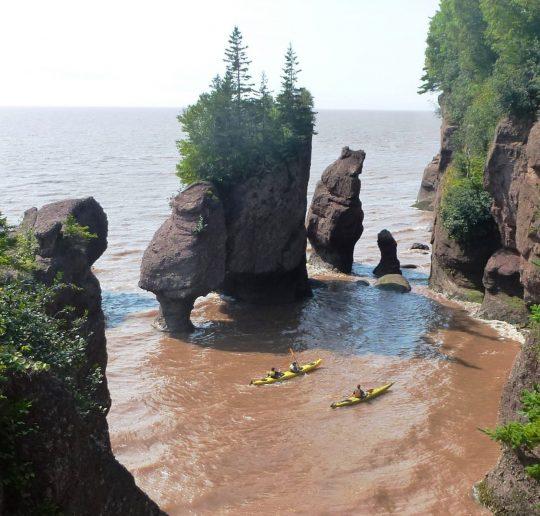 Zum größten Tidenhub der Welt nach Hopewell Rocks 4