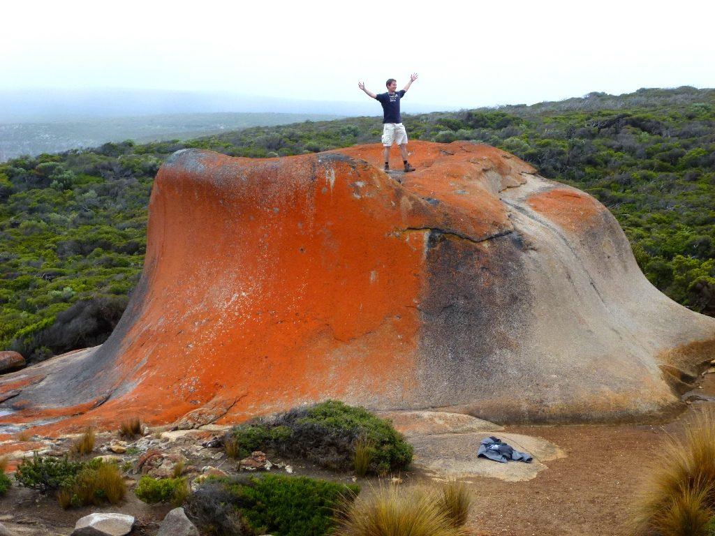 Rot leuchtender Fels, Remarkable Rocks Kangaroo Island