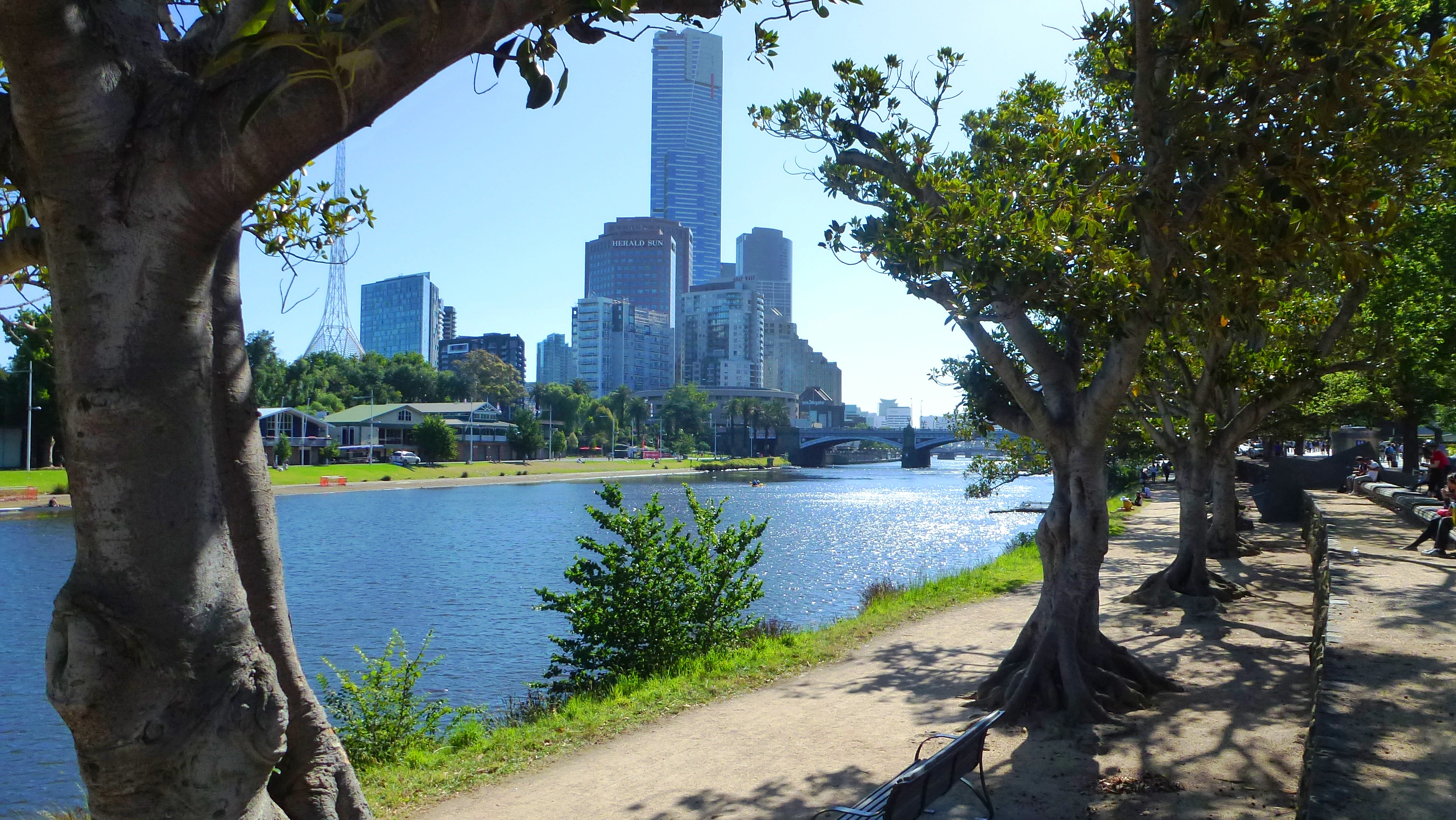 Yarra River Promenade in Melbourne