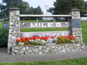 Mile 0 Trans Canada Highway in Victoria