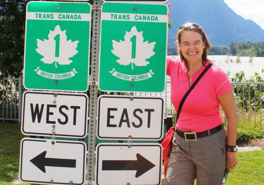 Simone am Trans Canada Highway