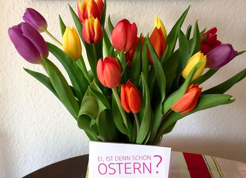 Tulpenstrauß zu Ostern