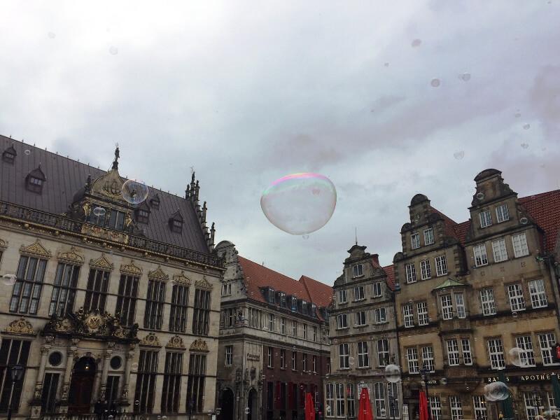 Seifenblasen Flashmob, eine sinnfreie Spaßaktion mit Kultfaktor 1