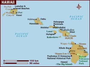 Map of Hawaii (Lonely Planet)
