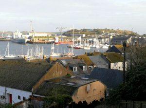 Blick auf den Hafen von Falmouth, Cornwall