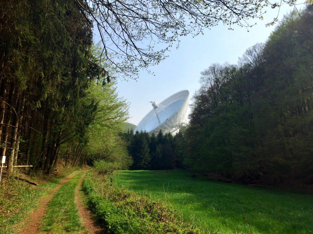 Kultding des Monats: Das riesige Radioteleskop wirkt irgenwie surreal.