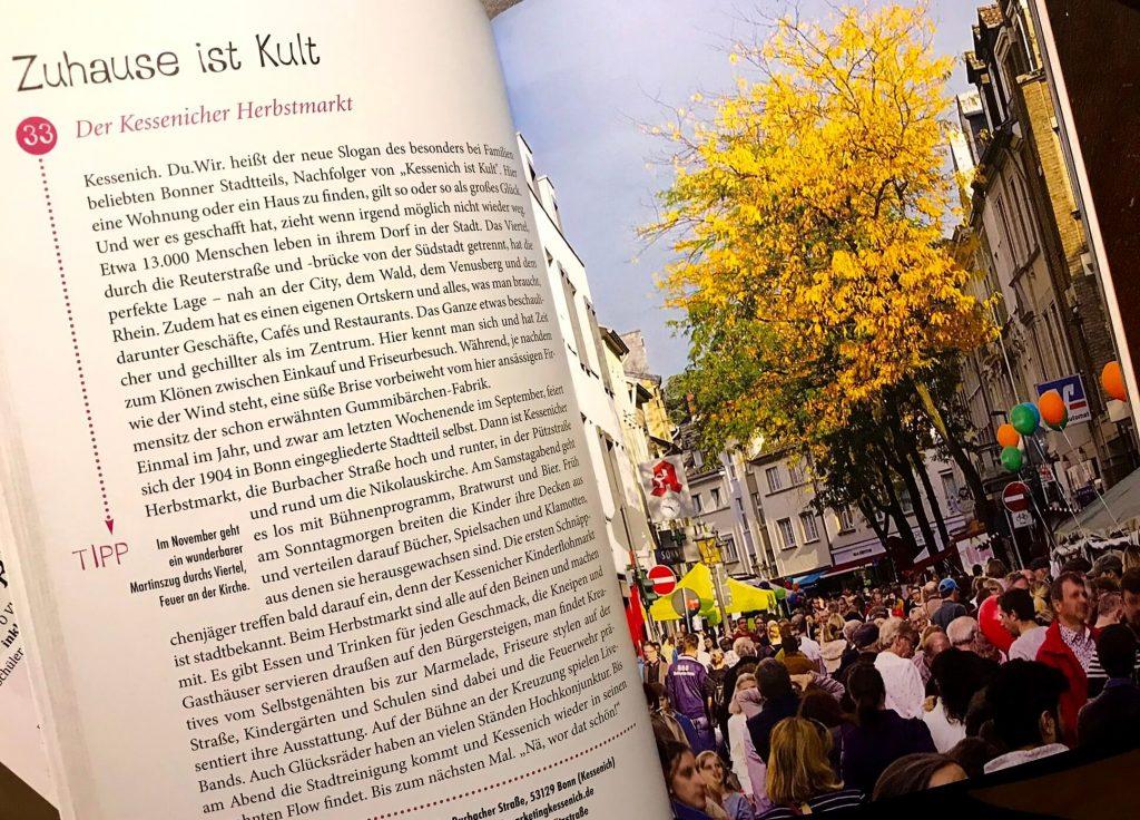 Bonn Kessenich ist Kult und mein Zuhause. Besuch mal den Kessenicher Herbstmarkt. Eine Glücksorte Tipp in Bonn.