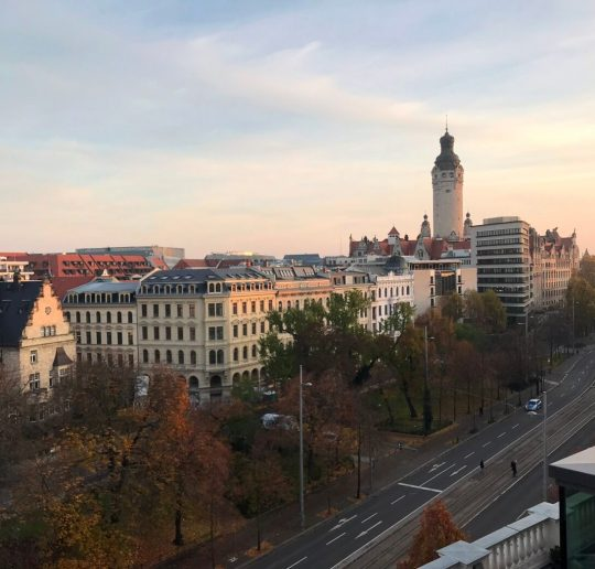 Toller Panoramablick vom Rooftop des Innside Leipzig. (Foto: Simone Blaschke)