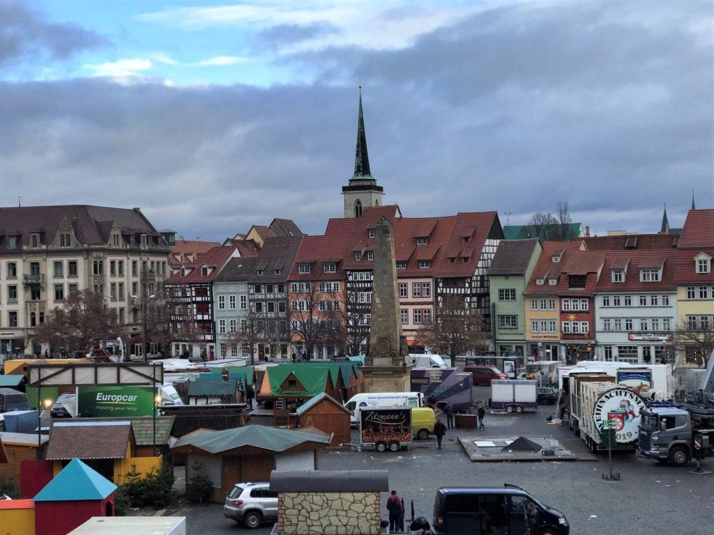 Blick vom Erfurter Dom auf den Marktplatz und die Altstadt. (Foto KULTREISEblog)