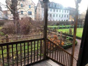 Blick in den Garten hinter dem Goethe Haus