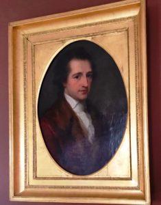 Porträt von Johann Wolfgang von Goethe in seinem Wohnhaus.