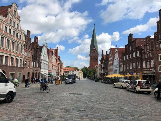 Am Sande ist die erste Adresse in der Altstadt von Lüneburg. (Foto Kultreiseblog)