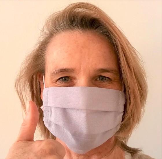 Mein erster selbstgenähter Mund-Nasen-Schutz 2020. (Foto Kultreiseblog)