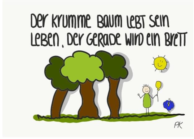 Baum Zeichnung von Petra Kirschke