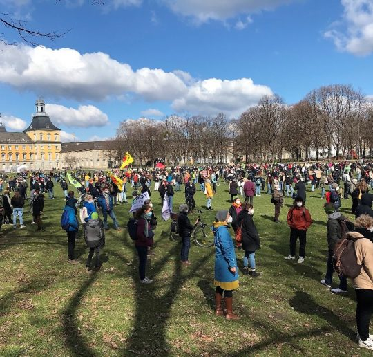 Klimakrise und Reisen: FridaysForFuture Demonstranten in Bonn